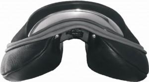 Flache Sitzform mit eckigem flachem Hinterzwiesel, ohne Taillierung
