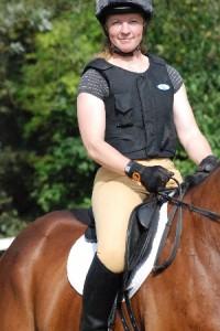 Foto von mir auf dem Pferd