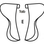 Abb. E Schematische Darstellung des Extraweiten-Kissenkanals mit Laschen (Tabs)